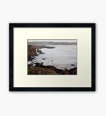 Dublin bay in a storm day Framed Print