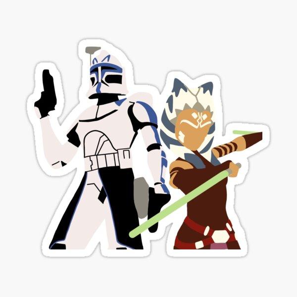 Rex and Ahsoka the clone wars Sticker