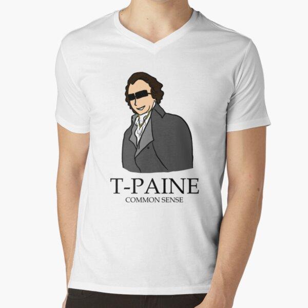 T-Paine & Common Sense V-Neck T-Shirt