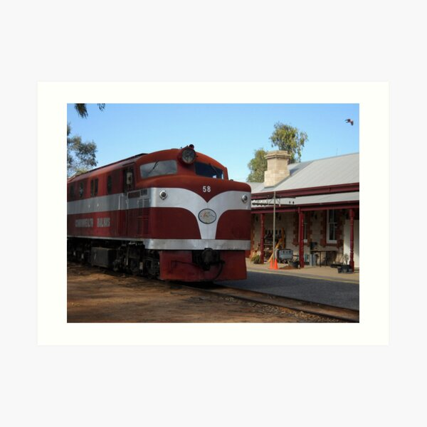 The Old Ghan at the station Art Print