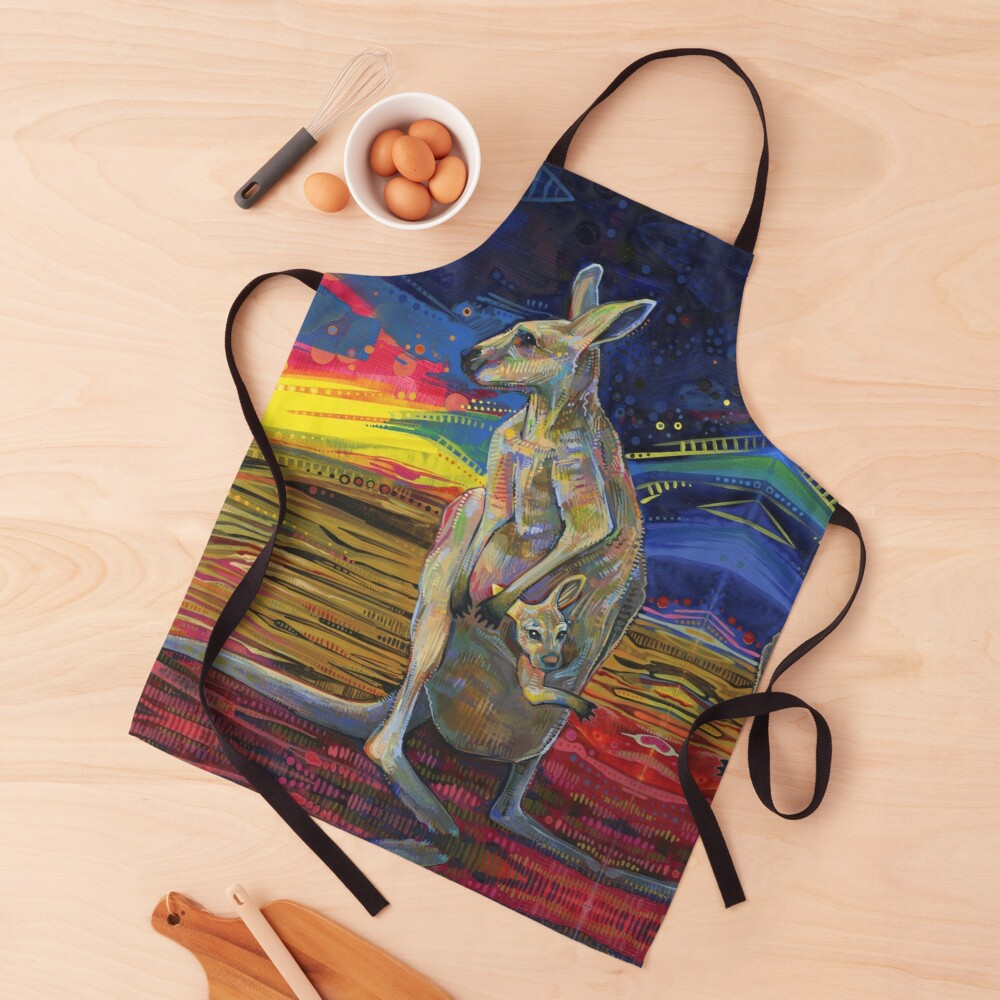 Red Kangaroo Painting - 2012 Apron