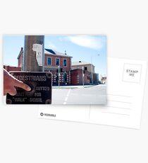 instructions for pedestrians Postcards