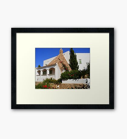 A House In Cala Galdana Framed Print
