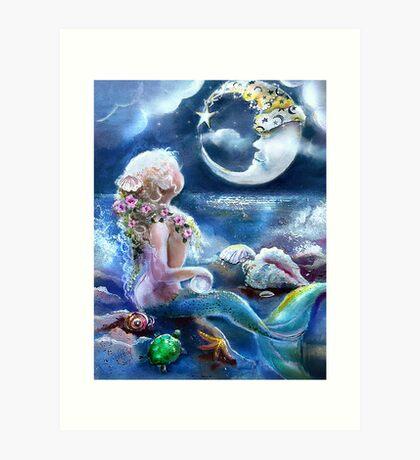 Me & the Moon Art Print