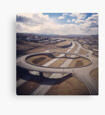 traffic bridge Canvas Print