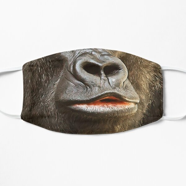 Gorilla Maske! Flache Maske