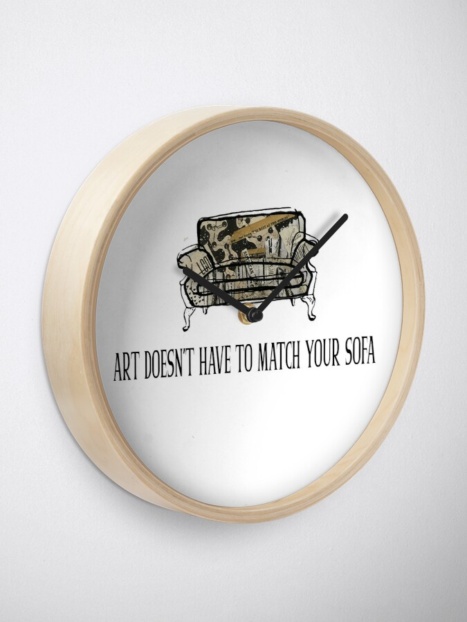 Alternate view of Art Doesn't Have to Match Your Sofa Clock