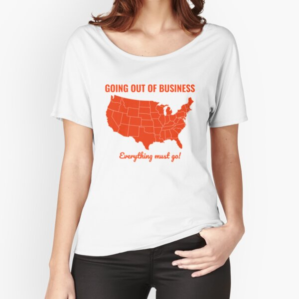 Going Out Of Business: USA Relaxed Fit T-Shirt