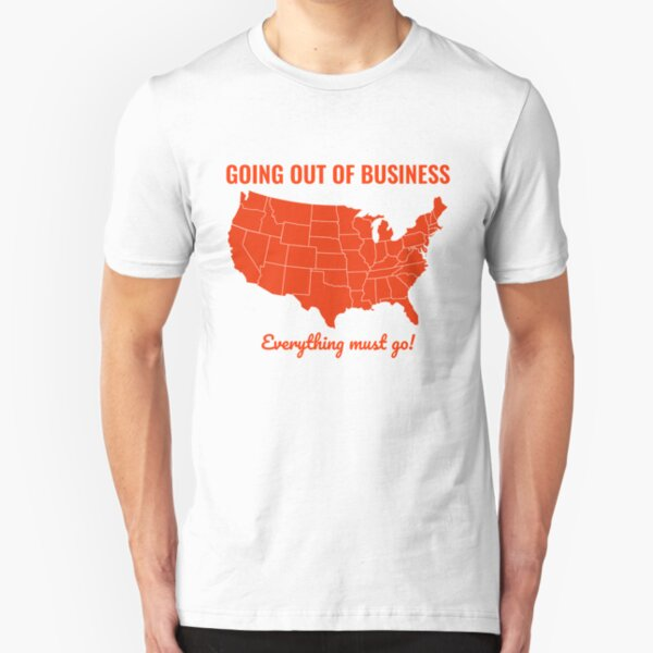 Going Out Of Business: USA Slim Fit T-Shirt