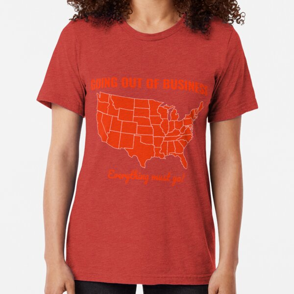 Going Out Of Business: USA Tri-blend T-Shirt