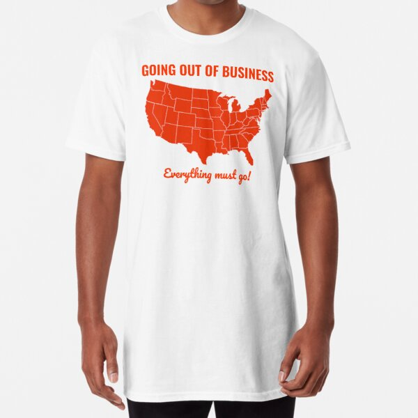 Going Out Of Business: USA Long T-Shirt