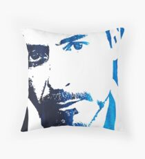rdj in blue Throw Pillow