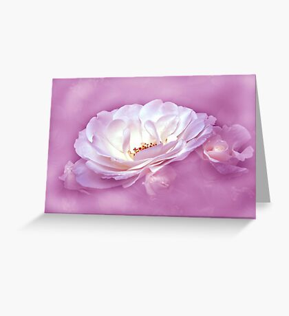 Beauty in the Mist - Pink Greeting Card