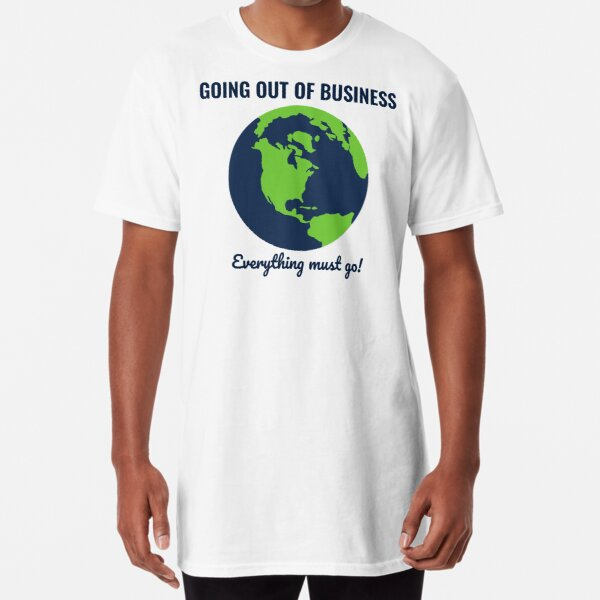 Going Out Of Business: Earth Long T-Shirt