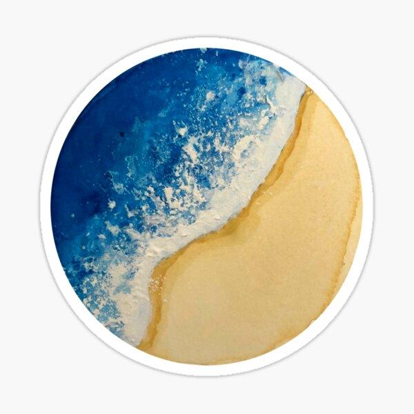 Watercolor Beach Wave Sticker