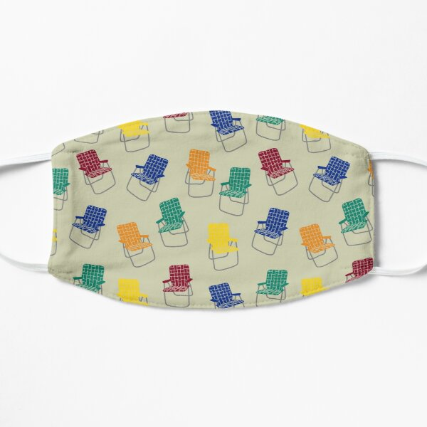 Retro Summer Lawn Chairs Pattern Mask