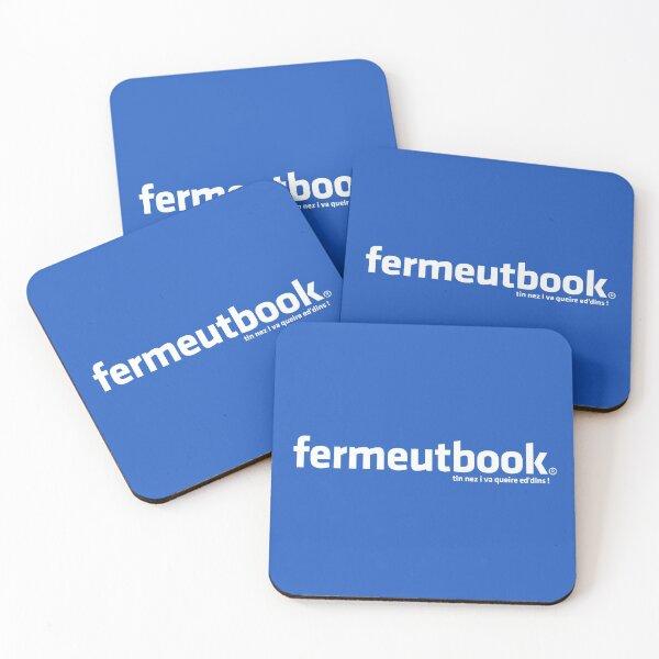 Fermeutbook Dessous de verre (lot de 4)