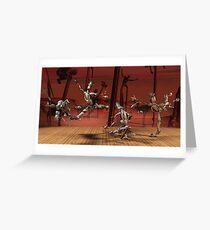 Robots Ballet Greeting Card