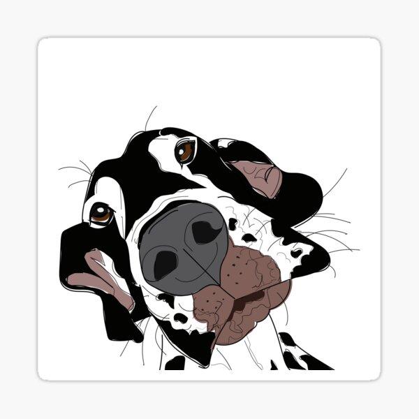 Great Dane (harlequin) Sticker