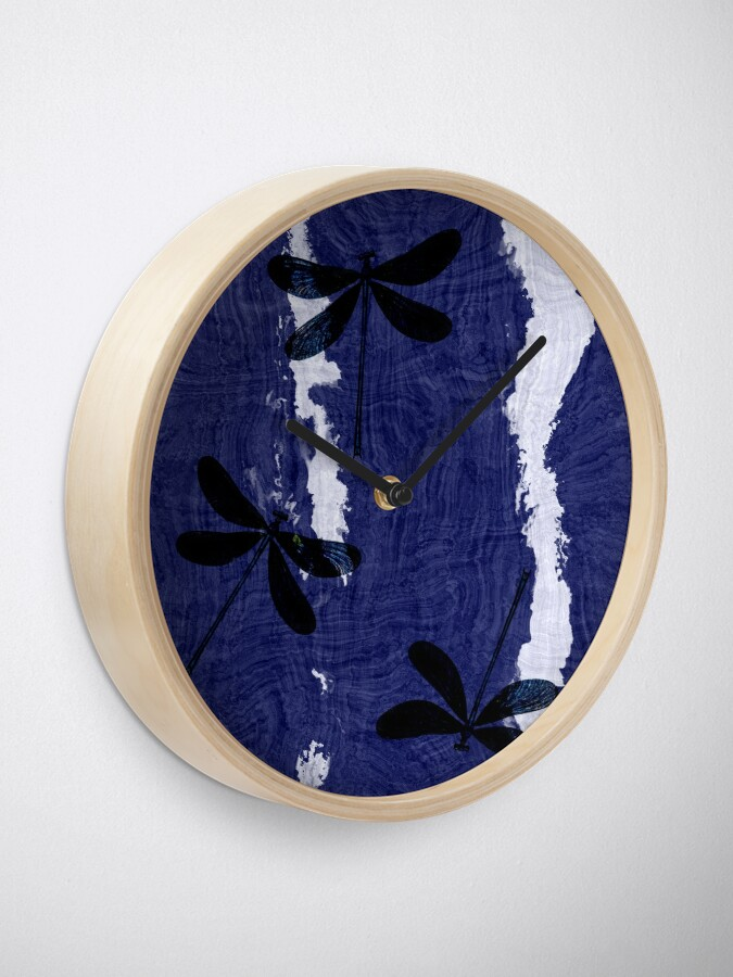 Alternate view of Dragonfly Silhouette Clock
