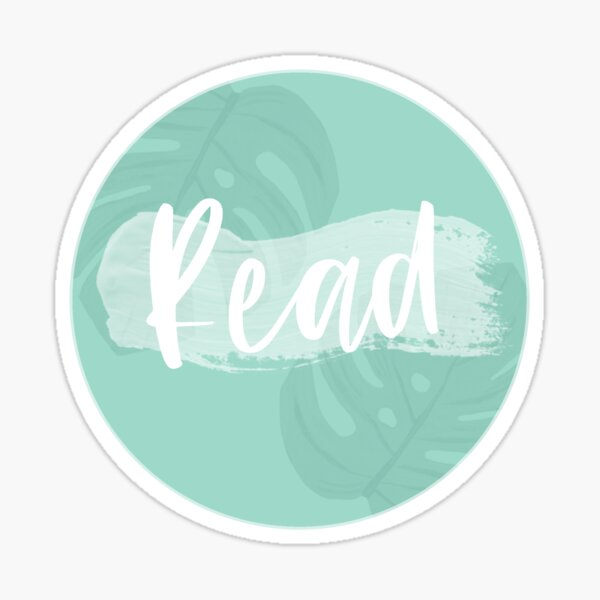 Read with Tropical Leaves Sticker