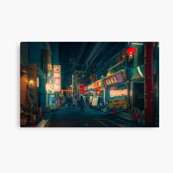 Derezzed II - Yokohama Japan Night Photo Canvas Print