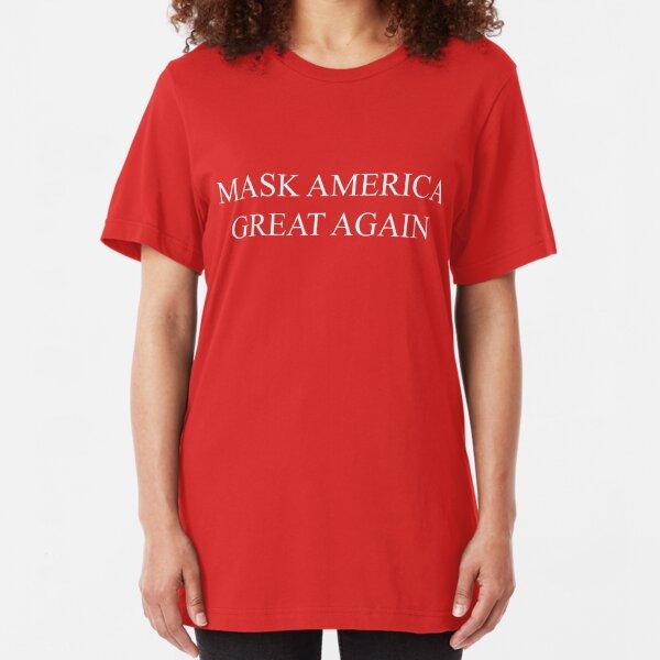 Mask America Great Again (red) Slim Fit T-Shirt