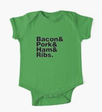 Bacon & Pork & Ham & Ribs Kids Clothes