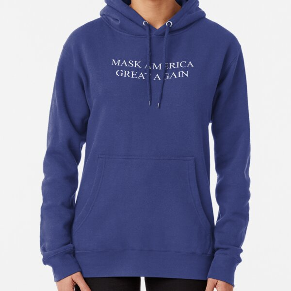 Mask America Great Again (blue) Pullover Hoodie
