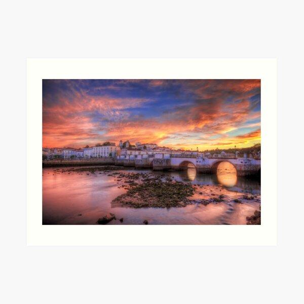 Tavira Sunset Art Print