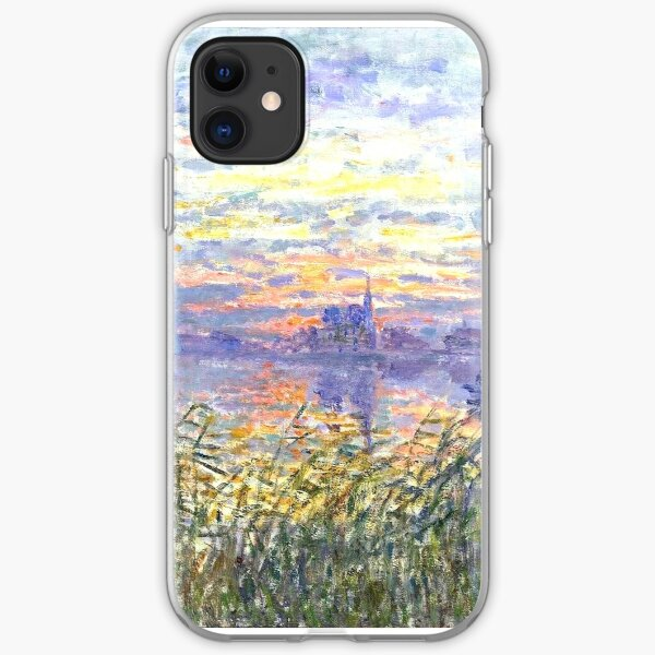 sunset on the seine iPhone Soft Case