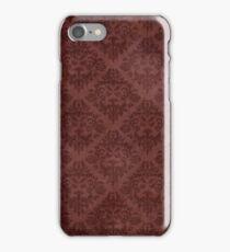 Vintage Red Floral Wallpaper iPhone Case/Skin