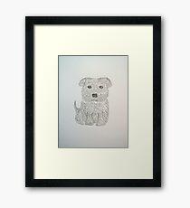 Tiny Terrier Framed Print