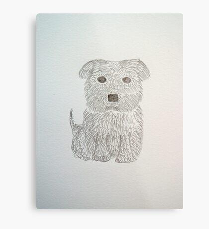 Tiny Terrier Metal Print