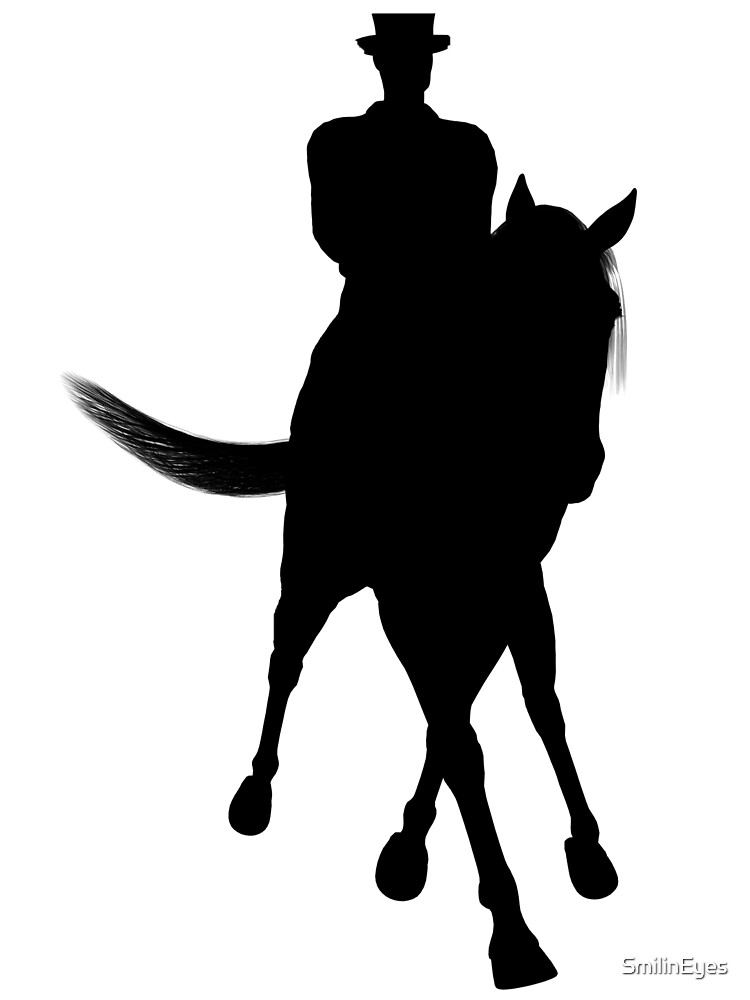 Dressage Horse And Rider Black by SmilinEyes