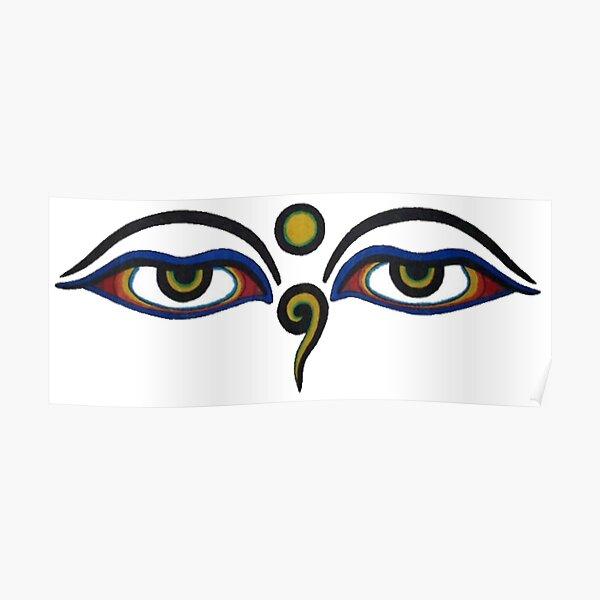 Spiritual All-Seeing Eyes Poster