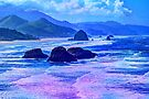 Abstract Ocean View by Tori Snow