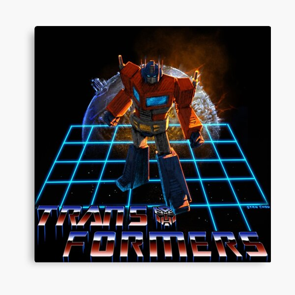 Transforming Robot Leader and Cybertron Canvas Print