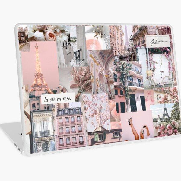 Parisian Pink Girly Collage / VSCO Trendy Laptop Skin