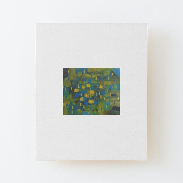 Blue Drop Wood Mounted Print