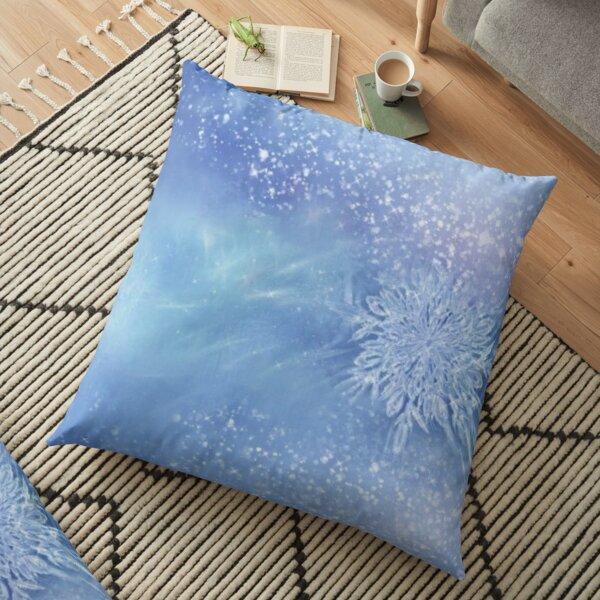 North Sea Glacier Queen Floor Pillow