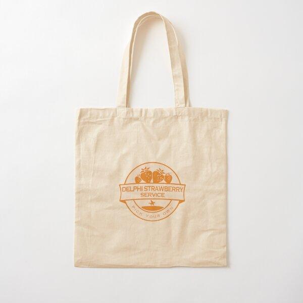 Delphi Strawberry Service Cotton Tote Bag