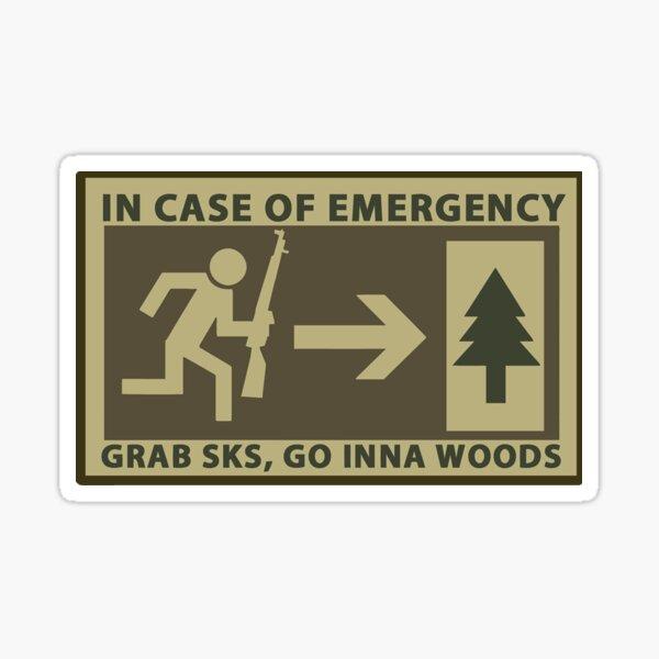 """/k/ 4Chan """"In Case of Emergency""""  Sticker"""