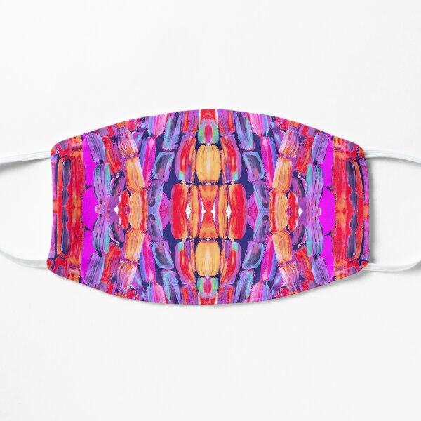 Ultraviolet Purple Sugarcane Pattern Flat Mask