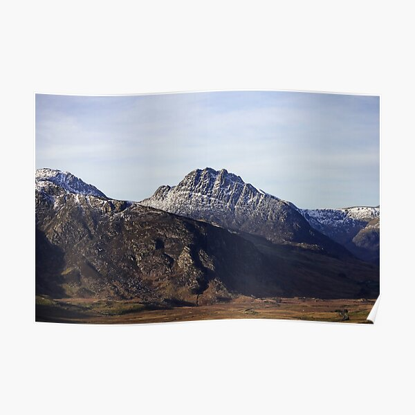 Tryfan a mountain in North Wales Poster