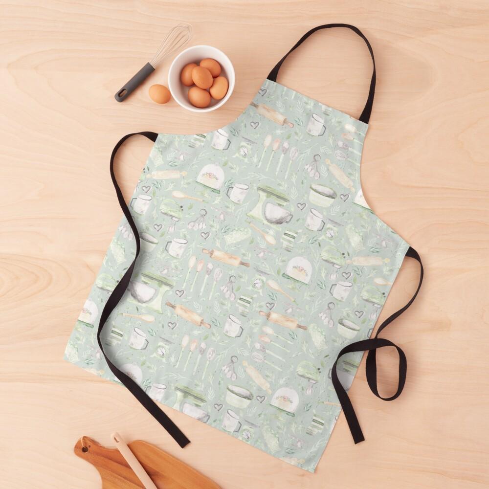Baking Pattern   Mint Green   Texture Apron