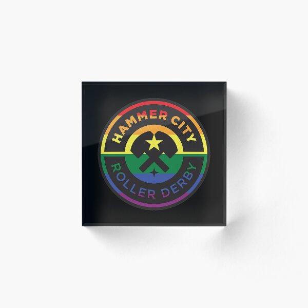 HCRD Pride Logo Acrylic Block