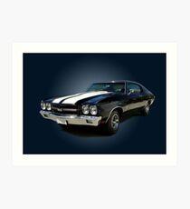 1970 Chevrolet Chevelle SS [on blue] Art Print