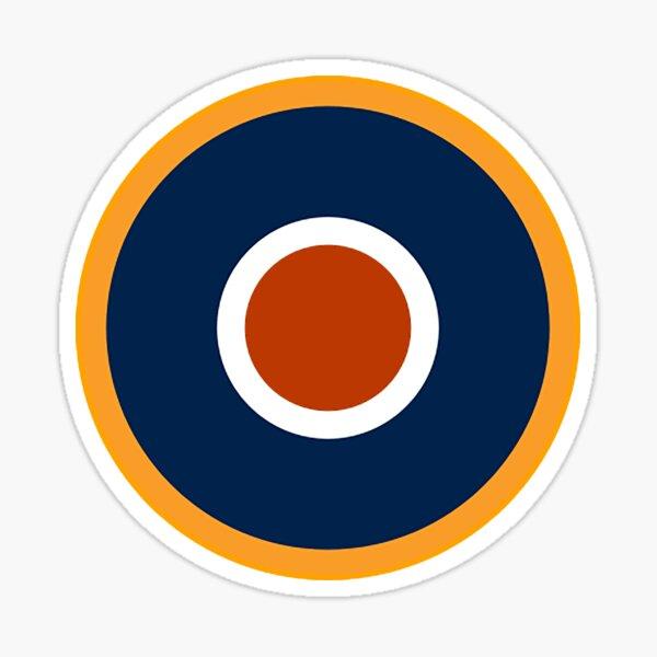 WAR. Spitfire, Bulls eye, Target, Archery, Plane, Aircraft, Flight, Wing, on white. Sticker