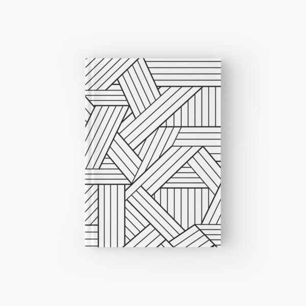 DECORATIVE GEOMETRIC OUTLINES Hardcover Journal